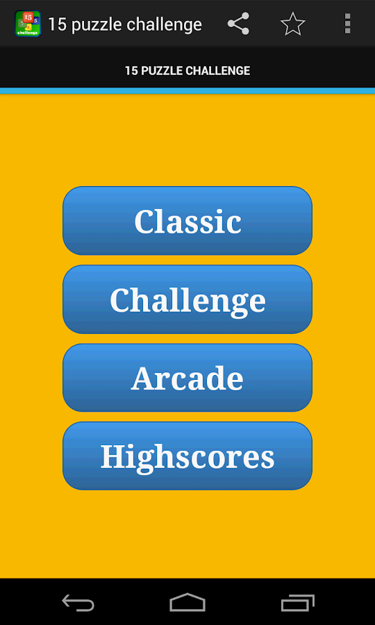 15 puzzle CHALLENGE FREE- screenshot