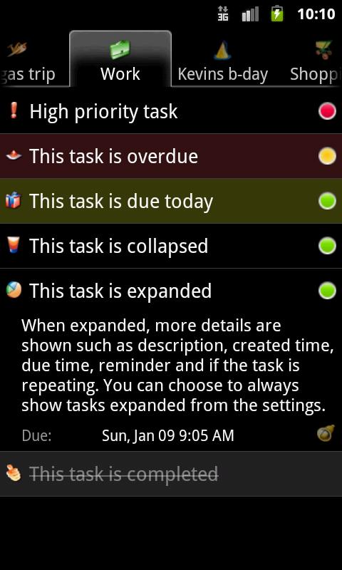 Task List - To Do List - screenshot
