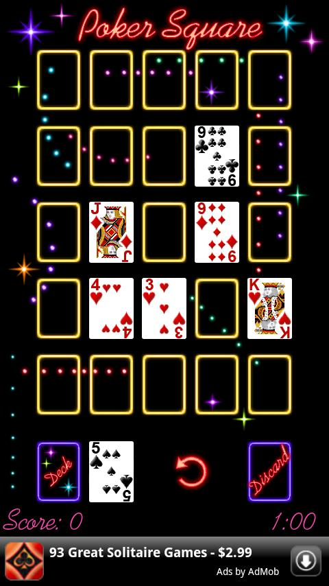 Poker Square- screenshot