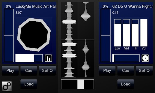 DJPad Free Turntable DJ Mixer - screenshot thumbnail