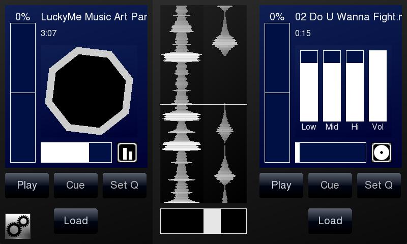 DJPad Free Turntable DJ Mixer - screenshot