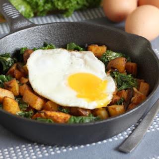 Kale And Potato Breakfast Hash.