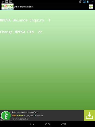 【免費財經App】MPESA Tariffs 2014-APP點子
