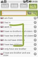 Screenshot of walk'n'talk Vocabulary Trainer