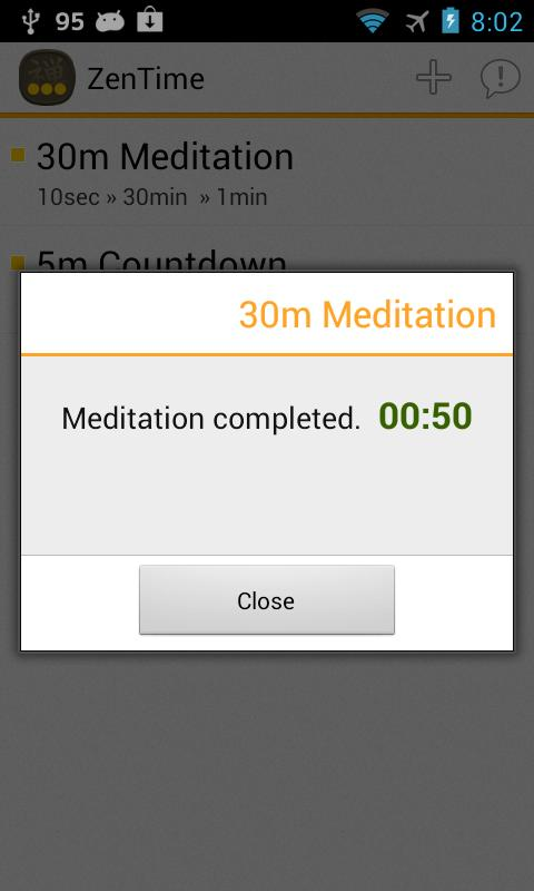 Meditation Timer: ZenTime Lite - screenshot