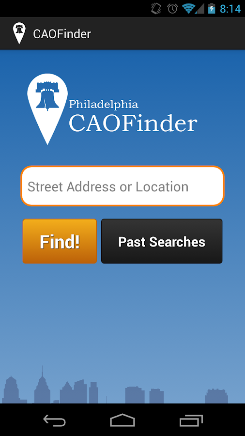 Philadelphia CAOFinder 1.0 - screenshot