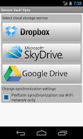 Screenshot of Secure Vault Sync
