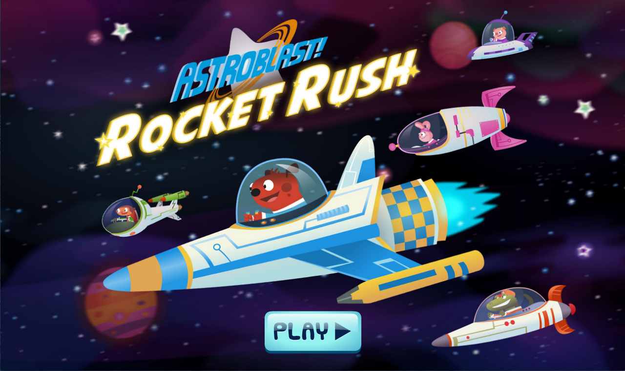 Astroblast! Rocket Rush- screenshot