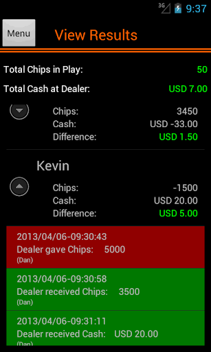 Poker Accounting Dealers Pro