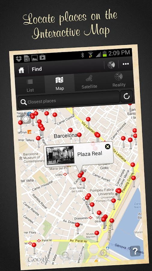 Barcelona, Then and Now Guide – Screenshot