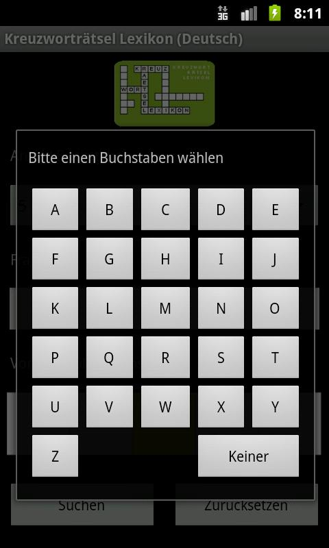 Crossword Dictionary (German)- screenshot