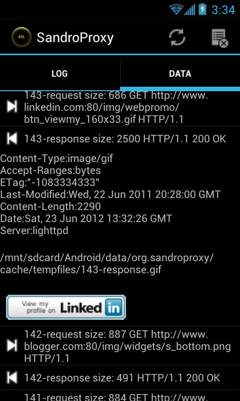 SandroProxy- screenshot