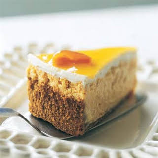 Very Low-fat Apricot Cheesecake.