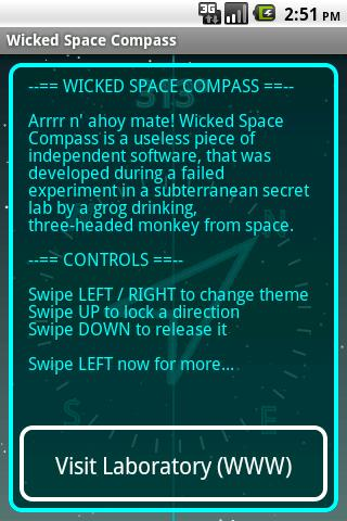 Wicked Space Compass- screenshot
