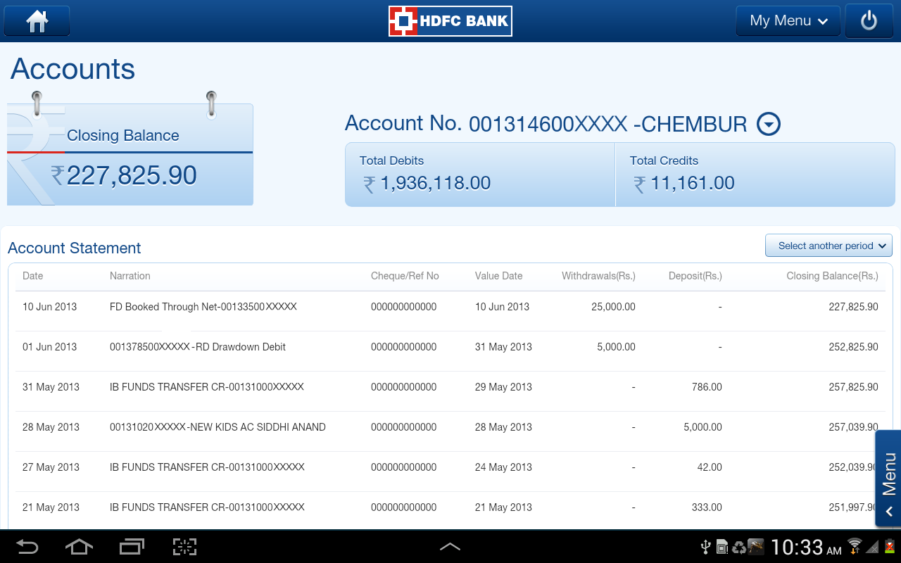 Hdfc forex card online statement