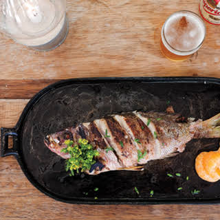 Grilled Fish with Tangerine and Marjoram.