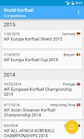 Screenshot of World Korfball
