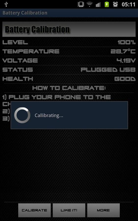 Battery Calibration- screenshot