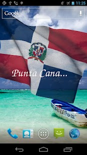 3D Dominican Flag LWP - screenshot thumbnail
