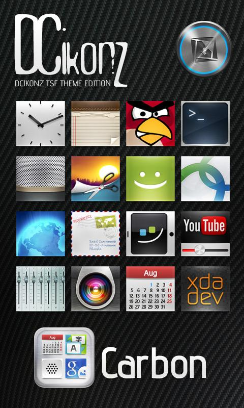 DCikonZ Carbon TSF Theme- screenshot