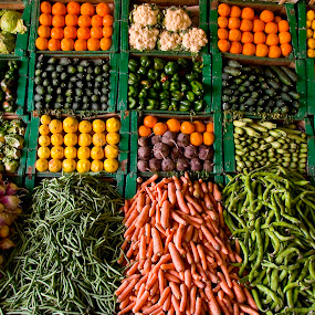 Moroccan fruit and vegetable display. by Gale Perry - Food & Drink Fruits & Vegetables (  )