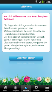 Polleninfo Screenshot