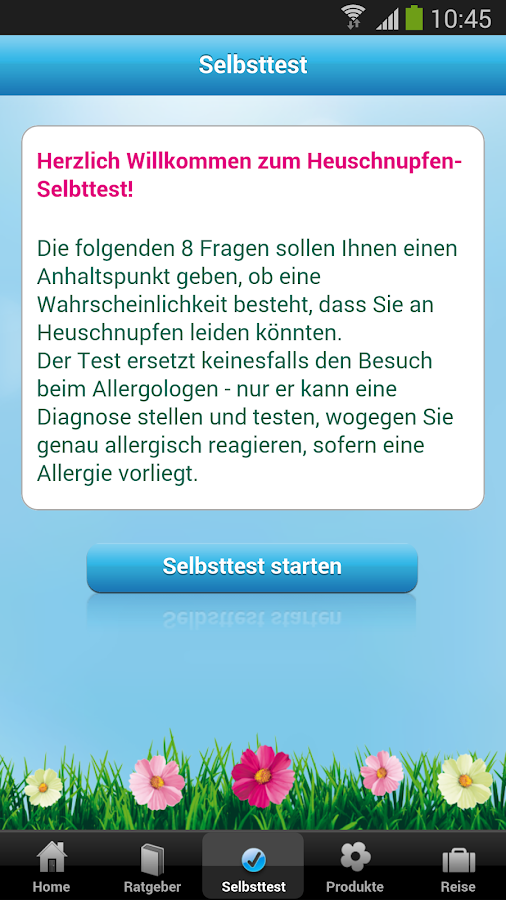 Polleninfo - screenshot