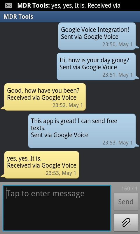 GV SMS Integration Free - screenshot