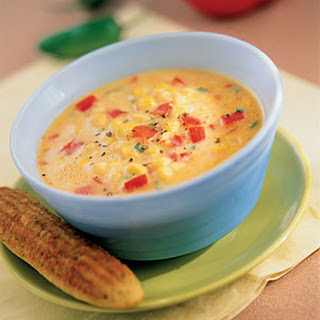Southwestern Corn And Red Pepper Soup.