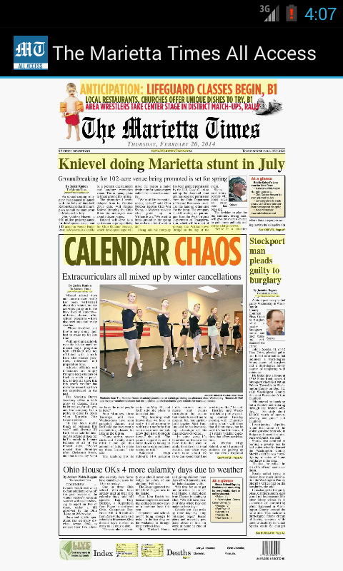 The Marietta Times All Access- screenshot