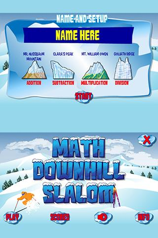 Mr. N's Downhill Math Slalom - screenshot