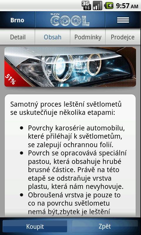 Slevy COOL - screenshot