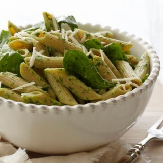Penne with Spinach Sauce.