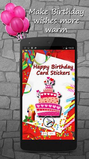 Happy Birthday Card Stickers