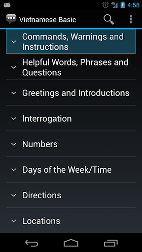 Vietnamese Basic Phrases - Works offline 1.6.1 screenshots 1