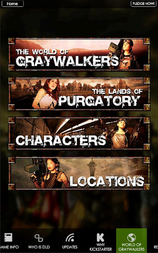 Graywalkers Kickstarter App