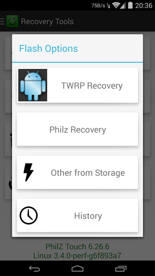 Root Rashr Flash Tool Android Apps On Google Play