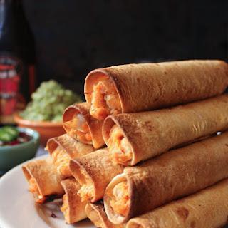 Turkey and Sweet Potato Taquitos with Jalapeño-Cranberry Sauce