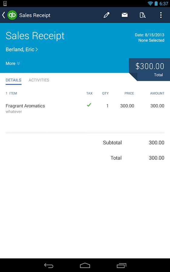 Quickbooks Online Screenshot
