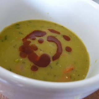 Minted Split Pea Soup with Harissa.