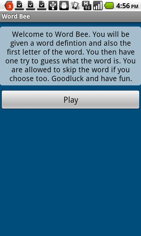 Word Bee- screenshot