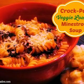 Crock-Pot Veggie Loaded Minestrone Soup.