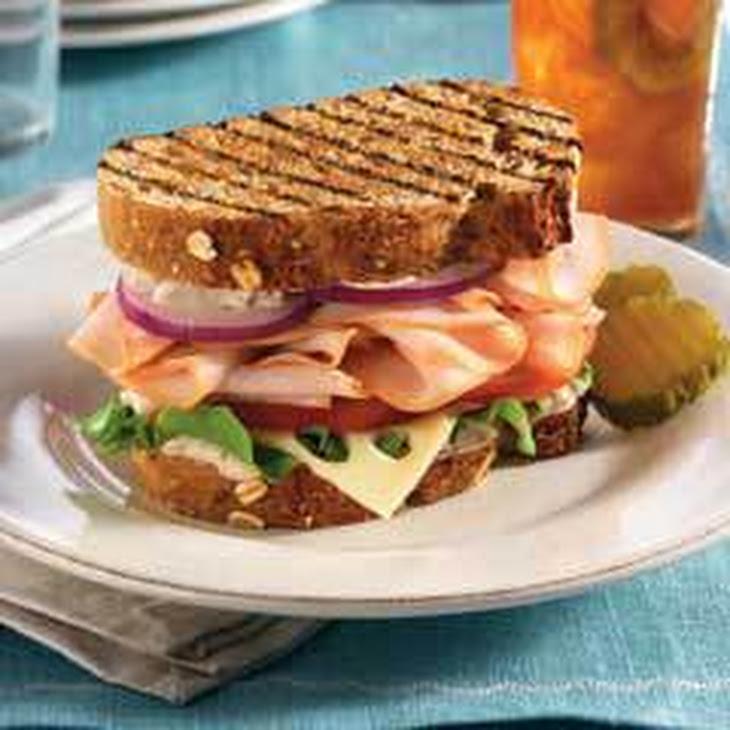 Mediterranean Turkey Sandwiches