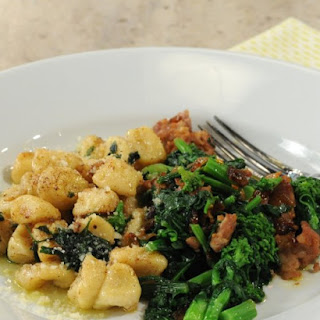 Gnocchi with Spicy Sausage, Caramelized Onions, and Broccoli Rabe