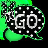 GO SMS THEME/GreenPolkaDot