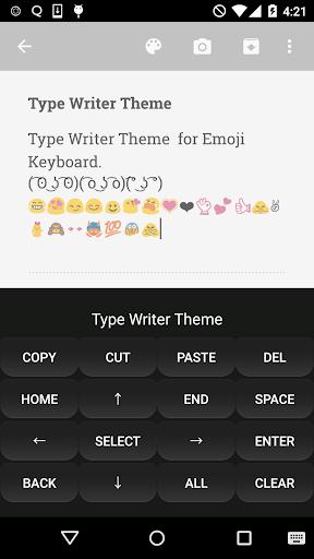 Type Writer Emoji Keyboard app (apk) free download for