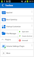 Screenshot of Volume Settings (Plugin)
