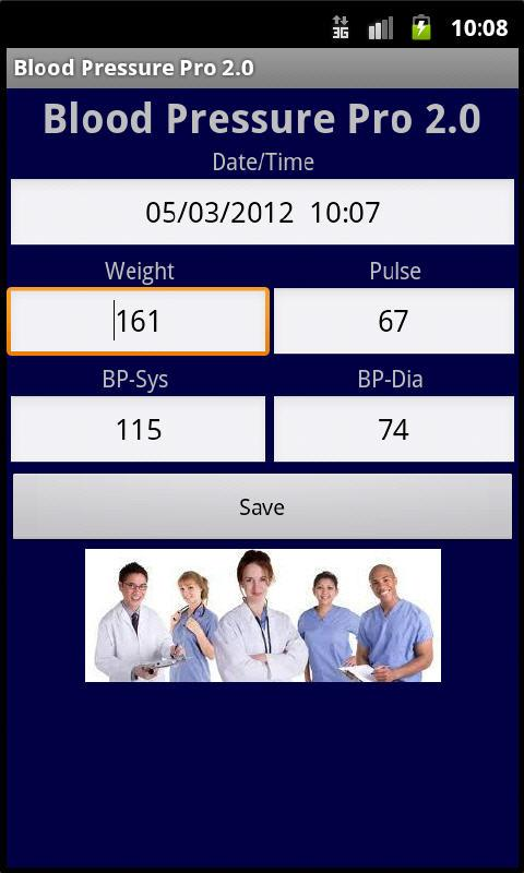 Blood Pressure Pro- screenshot
