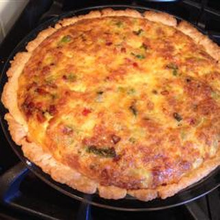 Green Chile Spinach Quiche.