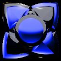 Next Launcher Theme black blue